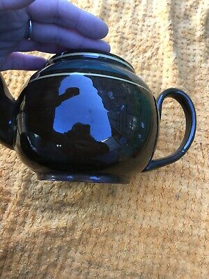 Large Brown And Green Porcelian Teapot • 2.90£
