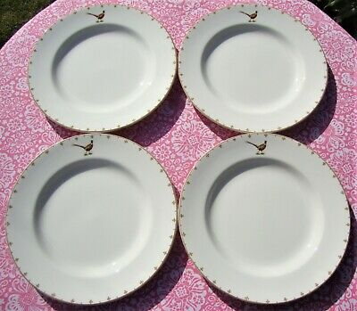 Spode Glen Lodge Dinner Plate X 4 - Pheasant Design - New Without Tags / Seconds • 29.99£