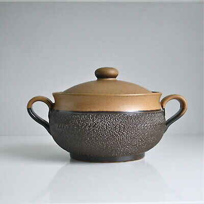 Denby Cotswold Casserole Dish. Stoneware Serving Bowl. Textured Brown Tureen. • 8£