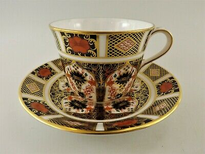Royal Crown Derby Old Imari Tea Cup & Saucer Dated 1984 / Pattern 1128 Ref 391/3 • 5.50£