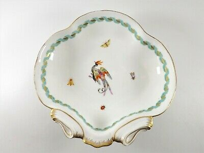 Meissen Bowl Decorated With Exotic Bird & Insects Dated 1773 - 1814 Ref 383/2 • 10£