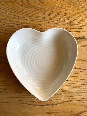Sophie Conran Portmeirion Pottery White Heart Shaped Bowl • 6.50£