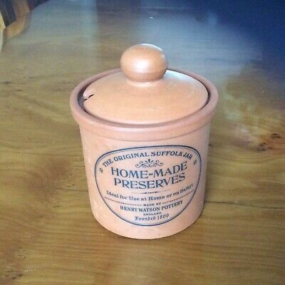 Original Suffolk Pottery Homemade Preserve Jar With Lid • 3£
