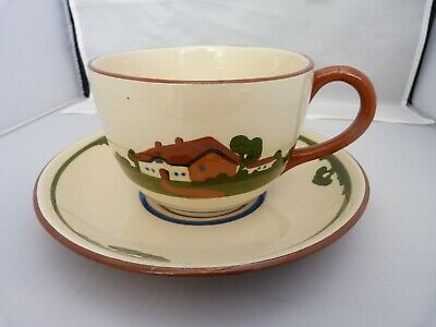 Vintage Torquay Motto Ware Oversized Cup & Saucer Planter • 2.99£
