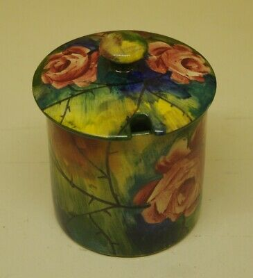 ### Vintage Wemyss Jazzy Cabbage Rose Preserve Pot And Lid ### • 140£