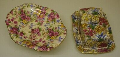 ### Two Vintage Royal Winton Grimwades Chintzware Dishes ### • 25£