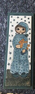 Jersey Pottery Painted Tile Picture • 9£
