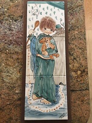 Jersey Pottery Painted Tile Picture • 10£