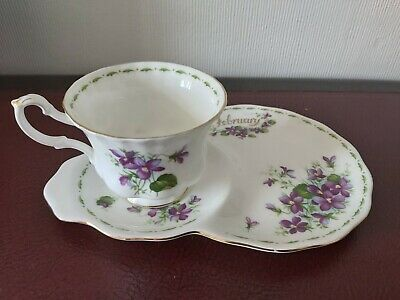 Royal Albert Teacup And 'Tennis' Saucer Flower Of The Month Series,... • 6.11£