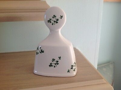 Vintage Irish Carrigaline China Bell With Green Shamrock Pattern,5 Inches Tall. • 2.99£