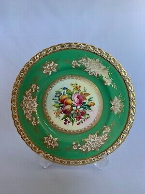Minton Plate Painted With Fruit And Flowers • 48£