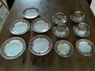 Vintage Tea Set, Bone China, Beautiful Pattern, 15 Pieces • 6£