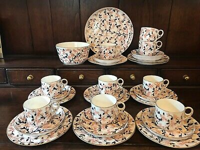 29 Pieces Antique Victorian Early Royal Crown Derby Floral Tea Set C.1879 - 1890 • 50£
