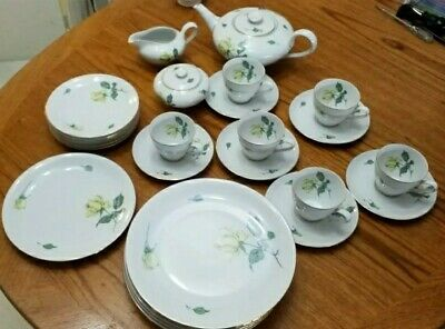 Collectable KPM Krister Teaset 28 Piece Yellow Rose China Lovely Condition  • 19£