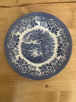 Vintage Broadhurst Staffordshire Blue And White Willow Plate VGC • 1.50£