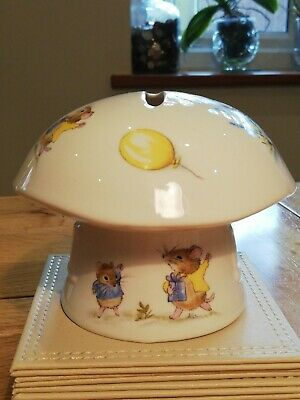 Vintage China Hornsea Country Scene Money Box Christening Baby Collectible  • 6£