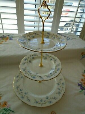 Vintage Duchess Tranquility  3 Tiered Teaset Cakestand Perfect For A Wedding • 16£