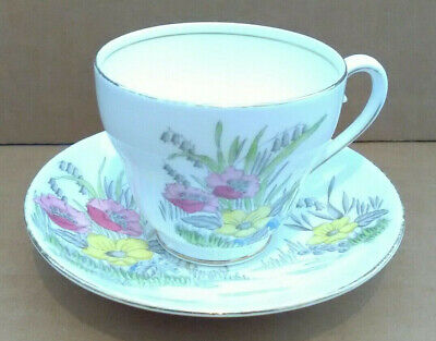 Adderley Tea Coffee Cup & Saucer, Floral, Collectable, Kitchenware, Tableware • 5£