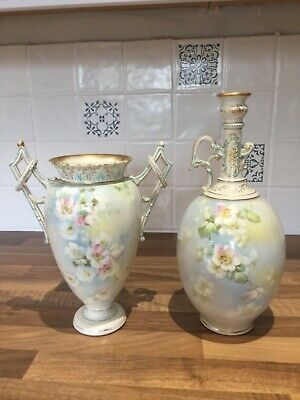 Beautiful Pair Of Antique Vases Stamped Royal Bonn Germany C1890 - 1920 • 100£