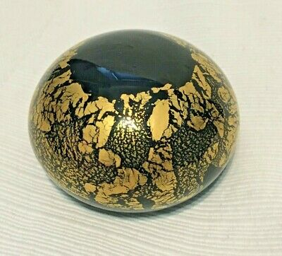 Paperweight - Azurine Gold & Black 24k Inclusions • 20£
