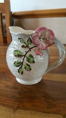 Antique Shorter Sons Genuine Staffordshire Hand Painted Jug Pink Flower • 19.99£