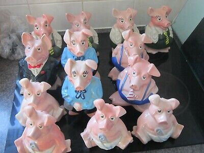 13 Mixed  Collection  NatWest Pigs  All With Stoppers Bargain   £120 • 120£