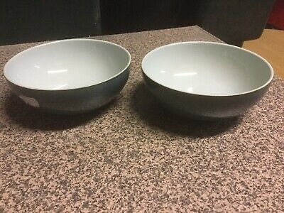 Denby Everyday Teal Cereal Bowls X2 Brand New • 23.99£