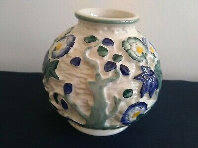 Persian Blue Indian Tree Vase Hand Painted H J Wood Staffordshire England • 9.99£