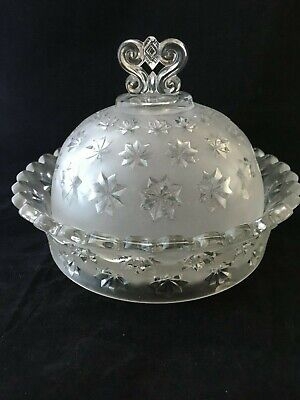 Victorian Pressed Glass Butter Dish / Covered Dish Date Registration 1864 • 15£