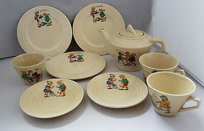 1930s Art Deco Nursery Rhyme Child's Tea Ware English China • 19£