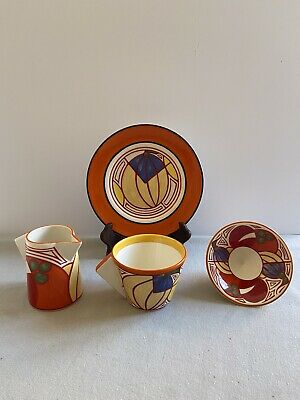 Clarice Cliff Wedgwood Melon Design Set Of 4 • 25.80£