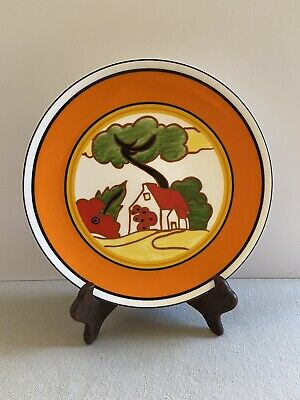 Clarice Cliff Red Roofs 8  Plate By Wedgwood Ltd Edition Excellent Condition • 8.50£