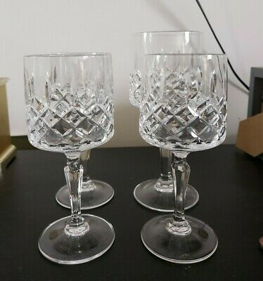 Mismatched Set Of Crystal Cut Glasses 5 Small 1 Large Wine Glass 1 Short Whiskey • 3£