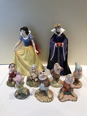 Royal Doulton Snow White  And 7 Dwarfs NOT THE QUEEN • 125£