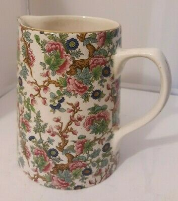Vtg CHINTZ Lord Nelson Pottery Indian Tree Pitcher Floral China England • 19.95£