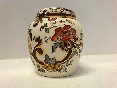 Masons Ironstone Brown Velvet Small Lidded Ginger Jar  30A • 5.44£