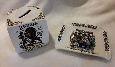 Lord Nelson Pottery Vintage Adverts Money Box & Pin Dish. Bovril/Quaker/Pears... • 2.99£