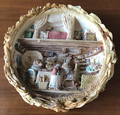 Vintage Brambly Hedge 3D Ceramic Harvest Mice Wall Picture / Plaque • 49.99£