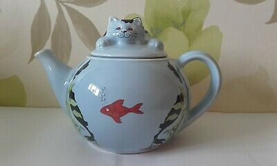 Whimsical Teapot, Feline Collection Designed By Judith Wootton, Wade, England • 9.99£