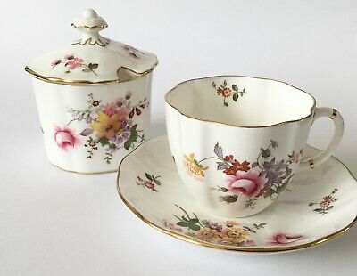 Vintage Royal Crown Derby Posies Tea Cup & Saucer And Preserve Pot - 1st Quality • 9.99£