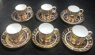 Royal Crown Derby 1128/1127 ?Imari Pattern Coffee Cans And Saucers • 349.59£