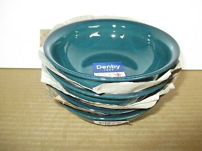 Denby Greenwich 4 X Medium Side Bowls New 1st Quality Excellent Condition • 29.75£