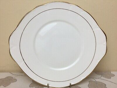 Duchess Ascot Gold Twin Eared Cake Plate Unused Condition • 6.99£