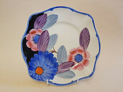 Lovely Art Deco Grays Susie Cooper Style Scalloped Edge Plate Pink Blue Purple • 29.99£