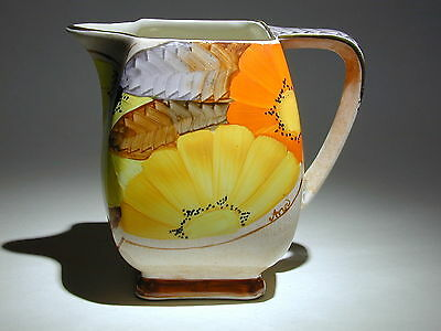 Art Deco Grays Susie Cooper Style Square Jug Gilded & Hand Painted A2112 Signed • 49.90£