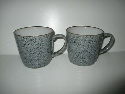 Denby Studio Grey 2 X Ridged Mugs New First Quality Excellent Condition • 27.50£