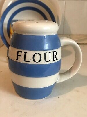 Rare Cornishware Collector's Club Handled Flour Shaker Never Used • 149.99£
