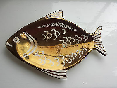 Grays Lustre Ware Trinket Dish In The Shape Of A Fish • 9.99£