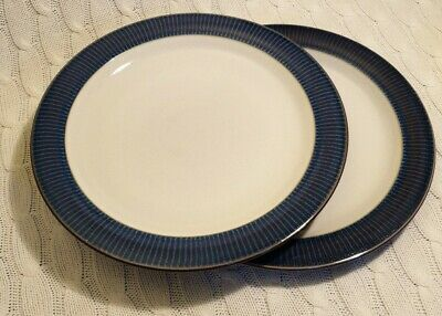 Denby Storm Dinner Plates 10 1/2 Inches Rare X2,Excellent Condition, Plum Firsts • 27.90£