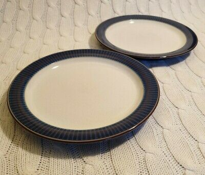 Denby Storm Tea Plates X2 7 1/4 ,Excellent Condition,Plum Firsts, Side Plate • 18.90£